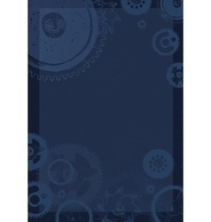 Gear blueprint abstract design vector