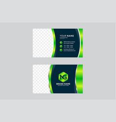 gradient green color scheme flyer vector image