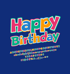 greeting card happy birthday for children vector image