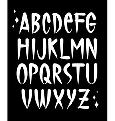 Hand written old school tattoo style font alphabet vector