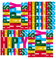 Happiness template design vector