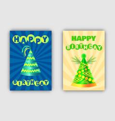 happy birthday banners set vector image