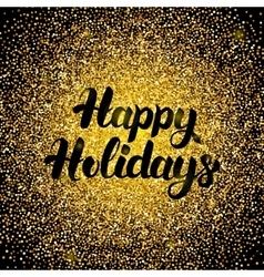 Happy Holidays Gold Design vector
