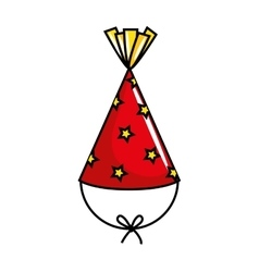 Hat party celebration isolated icon vector