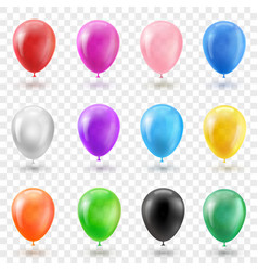 Helium balloon set in different bright colors vector