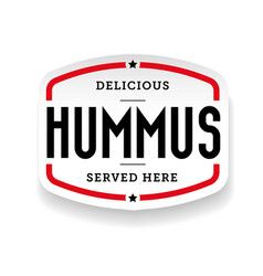 Hummus arabic cuisine sticker vector