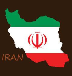 Iran republic flag map vector