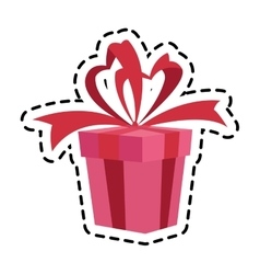 Isolated gift of birthday design vector