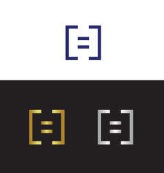 Letter h logo vector