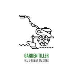 Logo soil cultivation tillage Cultivator vector image