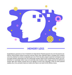 memory loss concept banner template in flat style vector image
