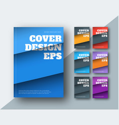 modern covers with diagonal colored stripes vector image