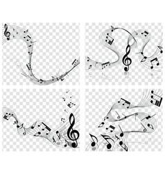 Musical designs vector