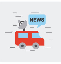 news world flat vector image