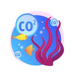 Ocean acidification abstract concept vector