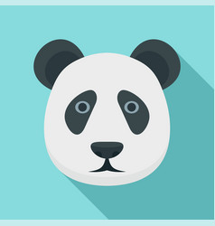 panda head icon flat style vector image
