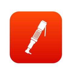 Pneumatic screwdriver icon digital red vector