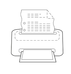 Printer or printing icon of set dotted sketch vector