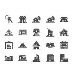 Property icon set vector