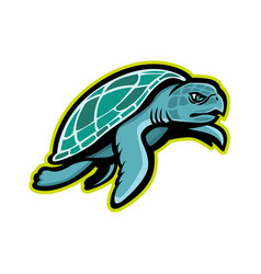 ridley sea turtle mascot vector image