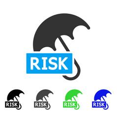 Risk umbrella flat icon vector