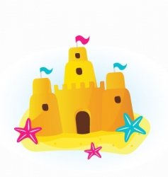 Sandcastle cartoon vector
