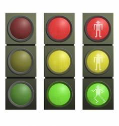 set of traffic lights vector image