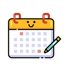 Task schedule lineal color icon vector