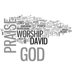 The power of worship text background word cloud vector
