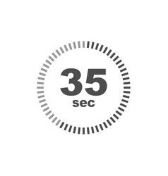 timer 35 sec icon simple design vector image