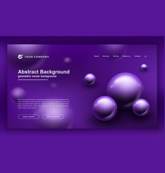 trendy abstract purple background for landing page vector image