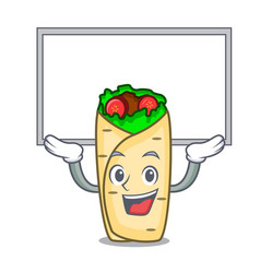 up board burrito character cartoon style vector image