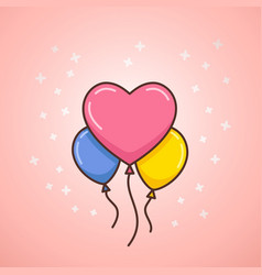 Valentines day balloons vector
