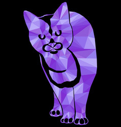 Violet mosaic a cat vector