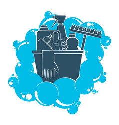 washing with the tool symbol vector image