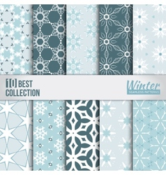 Winter backdrops collection vector image