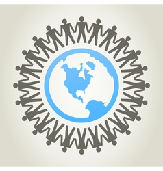 World of people vector image