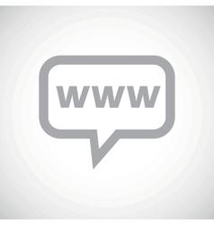 WWW grey message icon vector