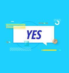 Yes in design banner template for web vector