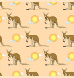 Australian animal kangaroo seamless pattern vector