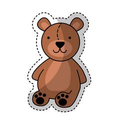 bear teddy toy icon vector image