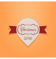 New Year or Christmas realistic Banner with Ribbon vector image vector image