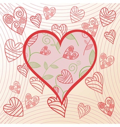 Romantick background hearts vector image vector image
