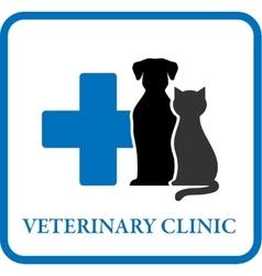 veterinary clinic icon vector image vector image