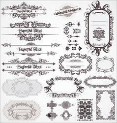 vintage ornamental calligraphic designs set vector image