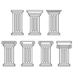 Classic column icon set vector image