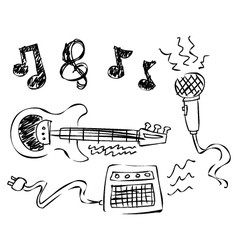 doodle music vector image vector image