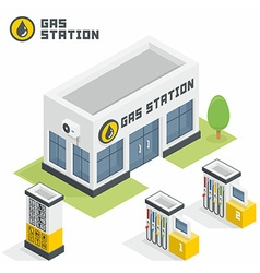 Gas station building vector image vector image