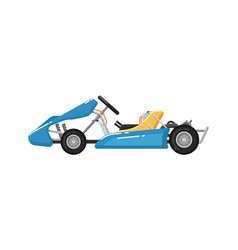 go kart isolated icon in flat design vector image