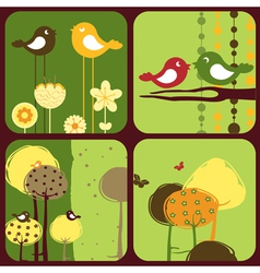 greeting cards wi vector image vector image